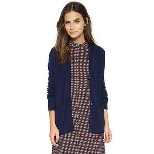 NWT EQUIPMENT Navy Wool Cashmere Cardigan Sweater